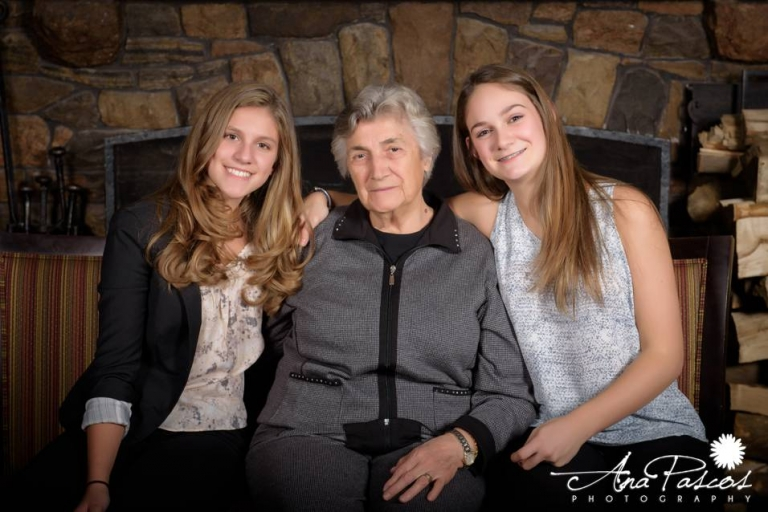 Sweet grandkids and grandmother portrait