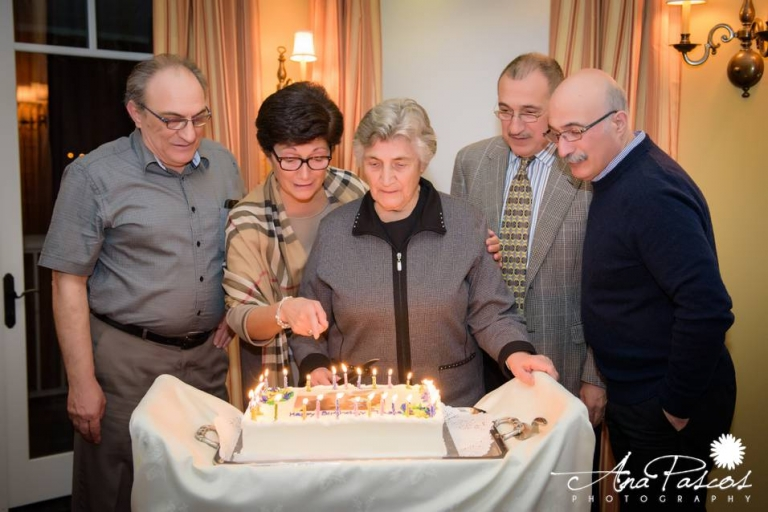 90th birthday blowing out candles toronto